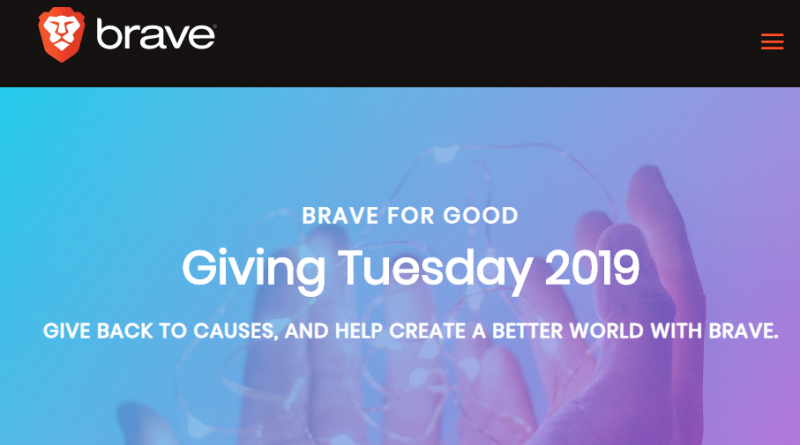 Brave Software in prima linea al Giving Tuesday
