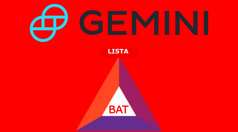 Basic Attention Token (BAT) sarà su Gemini Exchange