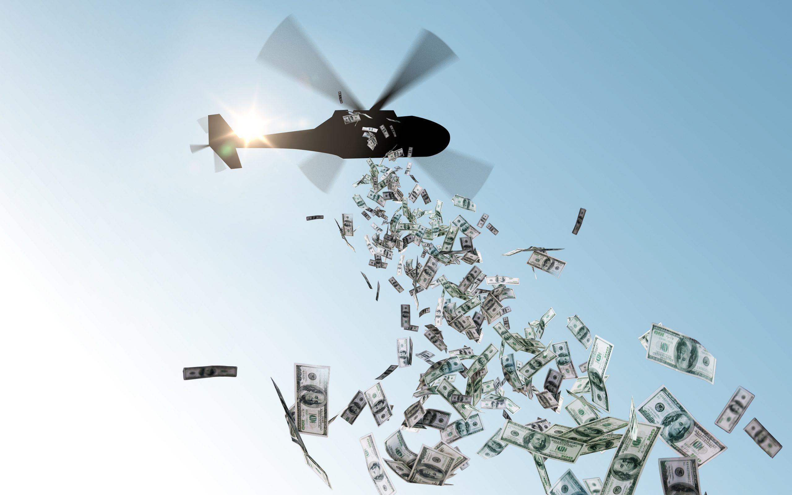 Helicopter money Bitcoin